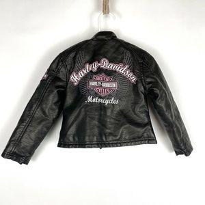 Faux Leather Harley Davidson Motorcycle Jacket 2t